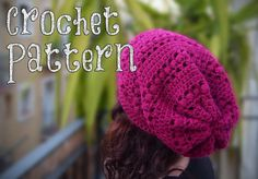 CROCHET PATTERN / Crochet Slouchy Hat /  Aligned Puff Stitch / Slouch Beanie / Tutorial / Knit Hat / Chunky Hat  / Winter Accessories / DIY
