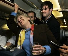 She gets drunk on airplanes. | 45 Totally Superficial Reasons Why Hillary Clinton Should Run For President In 2016