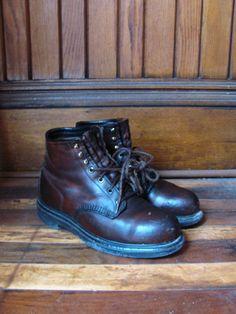 SALE Vintage Red Wing Work Boots Steel by phoenixstreetvintage, $48.00