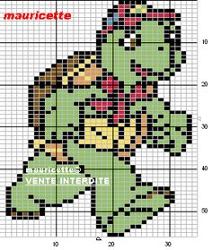 Franklin perler beads pattern by Mauricette