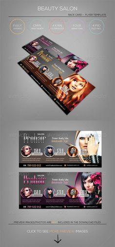 Modern Salon Rack Card - Flyer Template