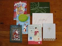 How to make Homemade Bookmarks from greeting cards