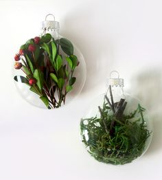 Moss & Berries Christmas Ornaments, Set of 2 by Moss & Twig on Scoutmob Shoppe Christmas Crafts For Gifts, Christmas Ornament Sets, Christmas Makes, Holiday Fun, Christmas Holidays, Christmas Decorations, Xmas, Holiday Decorating, Winter Holidays