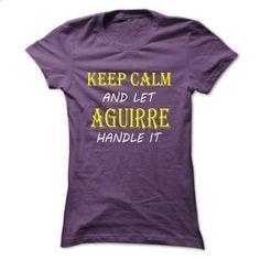 Keep Calm and Let AGUIRRE Handle It TA - #football shirt #tshirt bemalen. MORE INFO => https://www.sunfrog.com/Names/Keep-Calm-and-Let-AGUIRRE-Handle-It-TA-Purple-9787878-Ladies.html?68278