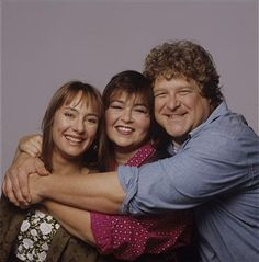 Jackie, Roseanne & Dan on 'Roseanne' ~ Always Thought They Were An Extended Couple.  Dan Not Only Took Care of His Wife, He Took Care of Her Best Friend, Her Sister!!