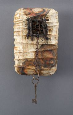 paper encaustic woven stitched Whisper Box Series Shannon Weber, Oregon