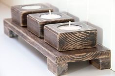 cool 80 Creative DIY Christmas Candle Holders Ideas to Makes Your Room More Cheerful  https://homedecorish.com/2017/10/02/80-creative-diy-christmas-candle-holders-ideas-to-makes-your-room-more-cheerful/ Wood Creations, Candleholders, Candlesticks, Scrap Wood Projects, Small Wood Projects, Woodworking Projects, Christmas Candle Holders, Wooden Candle Holders, Wedding Favours