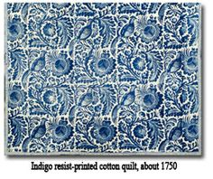 Indigo Quilt 1750 early american colonial quilt
