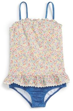 Seafolly 'Liberty Blouson' One-Piece Swimsuit (Toddler Girls & Little Girls)