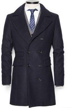 Men's Mango Double-breasted wool-blend coat on shopstyle.co.uk