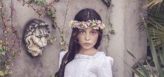Corona de flores preservadas niña de comunión
