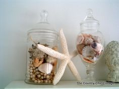 we need to look for or make some beach glass i love the apothocary jars but some beach glass mixed in would add more color