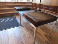 Euopean Cow Hide bench w/ slate middle - Mid Century Modern  - $1300
