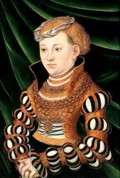 Marie de Saxe, duchesse de Poméranie-Wolgast-wife of Philippe -Lucas Cranach d.Ä.