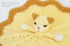 Kitty Cat Lovey CROCHET PATTERN instant download by Bowtykes