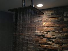 really like the stone wall instead of tile