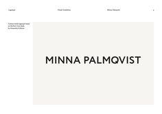 new logo and brand identity for minna palmqvist by bedow bp o rh pinterest com Branding Template Corporate Brand Guidelines.pdf