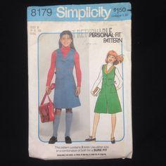 1977 Simplicity Sewing Pattern 8179 Girls Size B 8 10 Vest Skirt Culottes VTG