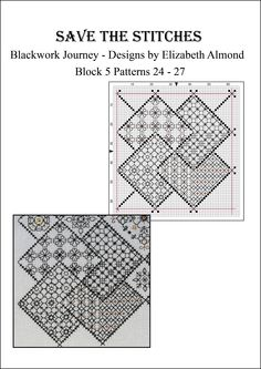 Block 5 'Save the Stitches' March 2014 Free PDF download from www.blackworkjourney.co.uk