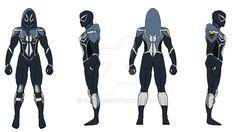 Drawing Marvel Comics Hunts-Man-Spider-turnaround by GL-Comics - Superhero Characters, Comic Book Characters, Comic Character, Spider Art, Spider Verse, Marvel Concept Art, Spiderman Suits, Superhero Design, Super Hero Costumes