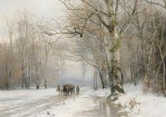 The Athenaeum - Winter Landscape with a Horse-Drawn Cart (Anders Anderson-Lundby - )