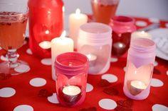Valentines Heart Jar Candle Holder Tutorial