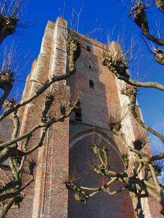 The 14th century church tower, Sint-Anna-ter-Muiden (near Sluis), Netherlands