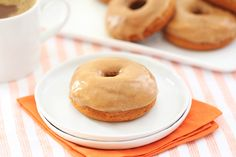 HG Healthy Iced Pumpkin Spice Donuts (spice cake mix, pumpkin puree, fat free cream cheese, powdered sugar) | hungry girl