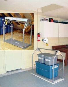 "Versa Lift Garage Storage Lift - 8' to 11' Floor to Floor (Silver) (46.25""H x 26""W x 56""D):Amazon:Home Improvement"