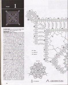 Solo esquemas y diseños de crochet: MANTEL CUADRADO ENCAJE DE BRUJAS