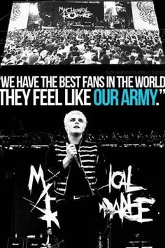 I AM PROUD TO BE IN THAT ARMY. MARCH ON, BLACK PARADE.