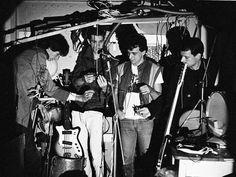 Os Replicantes na garagem da rua Marquês do Pombal. 1984.
