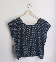 Polka Dot Boxy Blouse | Cut boxy in lightweight polka dot fabric, this loose fit blous... | Shirts & Tops