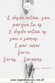Veja mais poemas de amor no link! #poemasdeamor #poemasdeamoremportuguês #frasesdeamor #pabloneruda #amor Pablo Neruda, Link, Movie Posters, Map Of The Stars, Best Authors, Quotes Love, Poems Of Love, Film Poster, Popcorn Posters