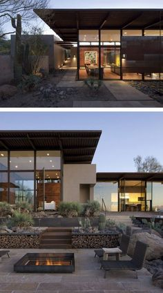 Lake|Flato Architects designed the Brown Residence, located in Scottsdale, Arizona.