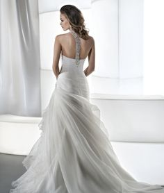 The back of the halter Dimetrios gown you liked: Illusions Style 3188 by Demetrios