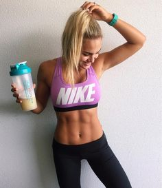 Amazing abs fitspo - Nike sports bra