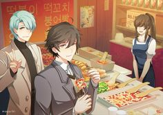 V, Jumin, and MC || Mystic Messenger
