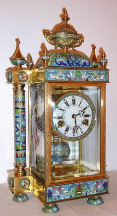 Antique Clock Crystal, Porcelain Regulator STUNNING - ITS BEAUTIFUL ♥♥♥