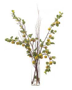 By John Richard Flower Vases, Flower Art, Flower Arrangements, Faux Flowers, Green Flowers, Ikebana, Tree Photoshop, Beautiful Houses Interior, Green Plants
