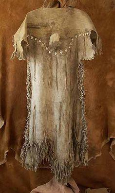 Plains Indian (Shoshone) Woman's Dress, Bighorn Sheep Hide