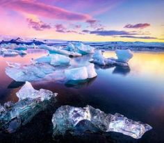The Jokulsarlon Lagoon (Iceland) - This lagoon is formed by the melting of gletjers. It has existed since 1934 and is expanding every day. One visitor described it as a place like the north pole with ice mountains floating by. - Want to discover more hidden gems in Europe? All of them can be found on www.mapiac.com