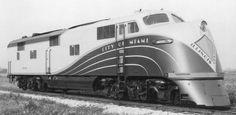 """Illinois Central """"City of Miami"""" EMD E6A locomotive."""