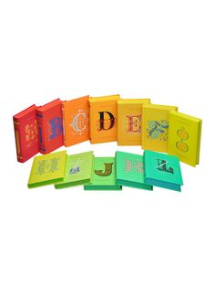 Colorful Literary Classics (Set of 12) by Juniper Books LLC at Gilt - obsessed.