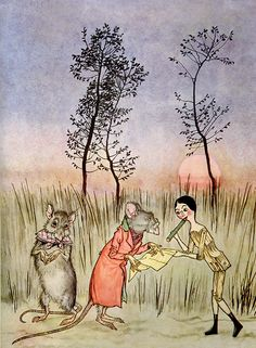 Peace Treaty, from Arthur Rackham's illustration to Poor Cecco