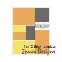 #free 12x12 digital scrapbooking template #scrapbooking #digiscrap