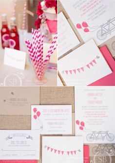 Tandem Letterpress Wedding Invitations