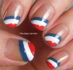 French Flag Nails
