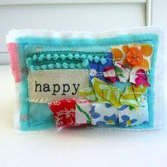 Appliqued Lavender Sachet Fabric Scrap Sachet by tracyBdesigns