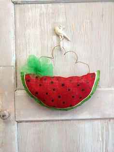 Sweet Watermelon Burlap Door Hanging